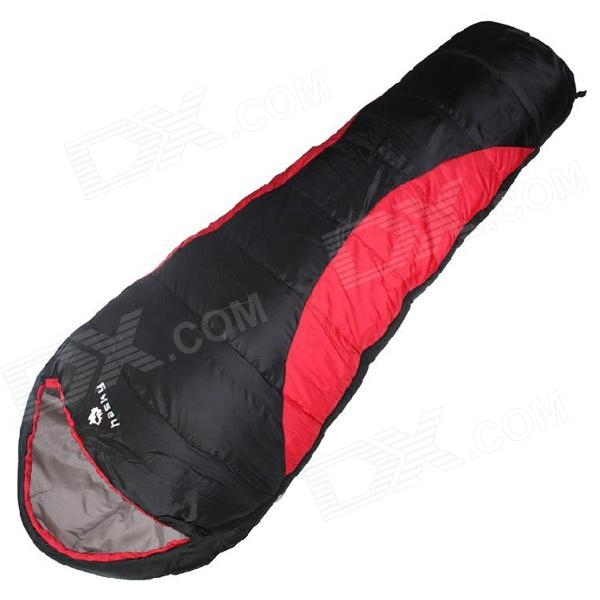 Hasky CY-0903-1 Outdoor Camping Sleeping Bag - Black + Red
