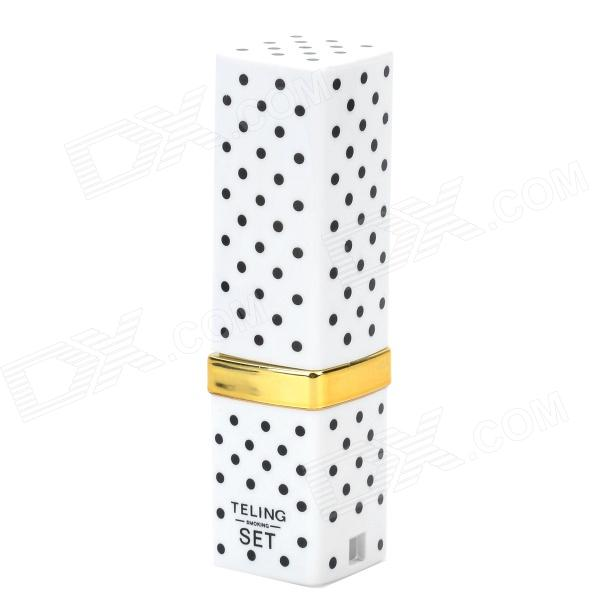 Stylish Fun Lipstick Style Polka Dot Pattern Butane Gas Lighter - White + Black + Golden телескопические палки msr deploy tr 3 long