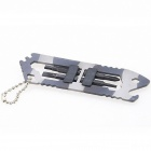 HX D-89 Stainless Steel Multifunctional Tool Clamps - Grey + White