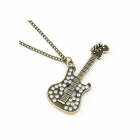 Vintage Dominate Guitar Style Sweater Chain Women's Necklace - Bronze