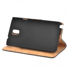Retro Protective PU Leather Case for Samsung Galaxy Note 3 - Black