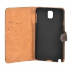 Funda protectora de cuero PU Retro para Samsung Galaxy Note 3 - Brown