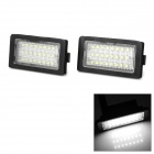 LPL-E38 3W 160lm 6000K 24-3528 SMD LED White Light License Plate Lamp (12V / 2 PCS)