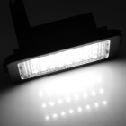 LPL-E38 3W 160lm 6000K 24-3528 SMD LED White Light Lamp License Plate (12V / 2 PCS)