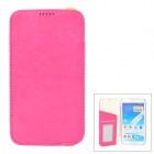 KALAIDENG Protective PU Leather Case for Samsung Galaxy Note 2 N7100 - Deep Pink