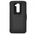 NILLKIN Protective PU Leather Case Cover w/ Visual Window for LG G2 D802 - Black