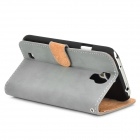 Retro Protective PU Leather Case for Samsung Galaxy S4 i9500 - Grey