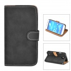 Retro Protective PU Leather Case for Samsung Galaxy S4 i9500 - Black