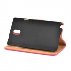Retro Protective PU Leather Case for Samsung Galaxy Note 3 - Red