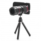 6~18X Zooming Telescope w/ Back Case + Tripod for Samsung i9300 - Black + Red