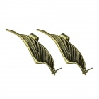 eQute EPEW4C99 Exaggerated Angle Wing Antique Brass Ear Stud - Bronze