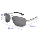 Reedoon 2108 Fashionable Magnalium UV400 Protection Polarized Sunglasses for Men - Grey