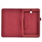 Lichee Pattern 2-Folding Protective PU Leather Case Stand for Asus MeMo Pad HD7 ME173X - Crimson