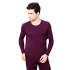 DI GUO BAO WANG Modal Men's Household Underwear Suit - Purple (Size-XXL)