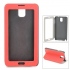 Protective Flip Open Case w/ Touch Screen for Samsung Galaxy Note 3  / N9000 / N9005 / N9002 - Red