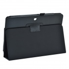 Lichee Pattern 2-Folding Protective PU Leather Case Stand for Asus MeMo Pad HD10 ME102A - Black
