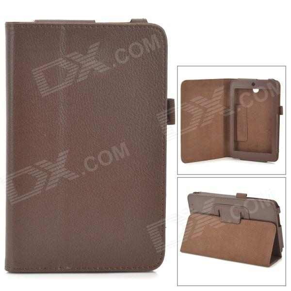 Lichee Pattern 2-Folding Protective PU Leather Case Cover Stand for Asus MeMo Pad HD7 ME173X - Brown набор для настольного тенниса start up br 12 2 star