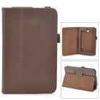 Lichee Pattern 2-Folding Protective PU Leather Case Cover Stand for Asus MeMo Pad HD7 ME173X - Brown