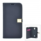 AILUN Stylish PU Leather Flip-Open Case w/ Strap - Black
