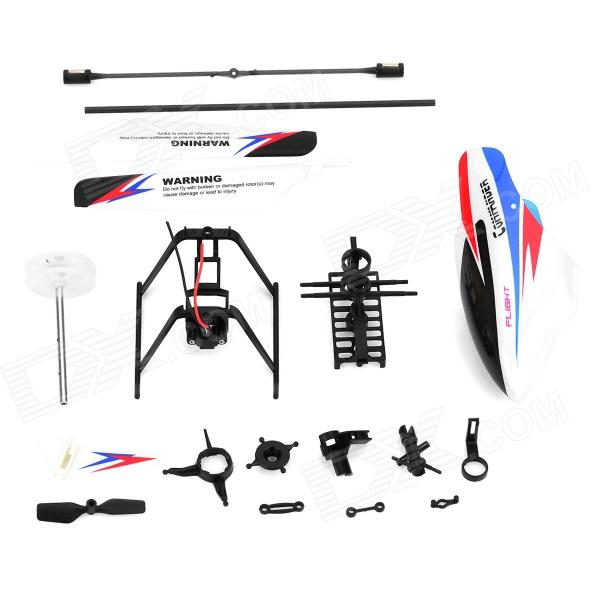 WLtoys KV911-0001 4-Ch R/C Helicopter Spare Parts Accessories Set - Black + White + Red + Blue wltoys f949 3ch rc airplane spare parts main wing and buckle set