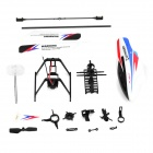 WLtoys KV911-0001 4-Ch R/C Helicopter Spare Parts Accessories Set - Black + White + Red + Blue
