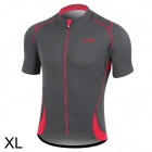 Santic MC02031 Bicycle Cycling Dacron Short Sleeves Jersey for Men - Grey + Red (XL)