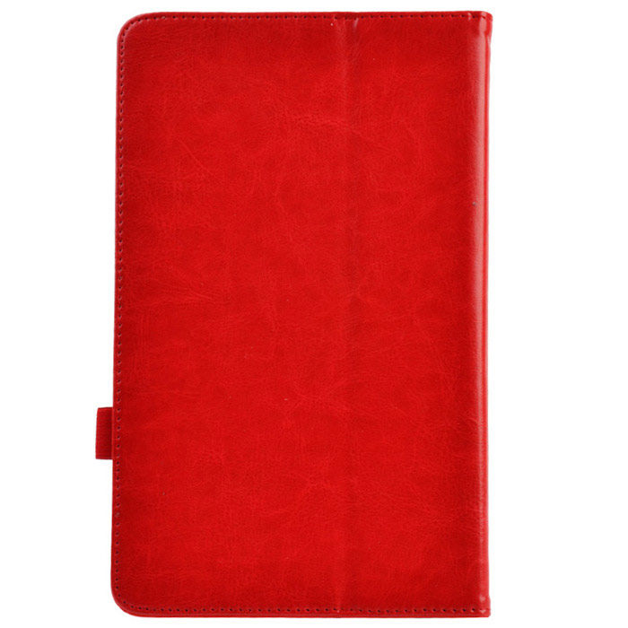 Lichee Pattern 2-Folding Protective PU Leather Case Cover Stand for Asus MeMo Pad HD10 ME102A - Red protective pu leather case w auto sleep for asus memo pad me102a 10 white