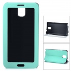 Protective PU Leather Flip Open Case w/ ClearTouch Window for Samsung Note 3 - Light Green