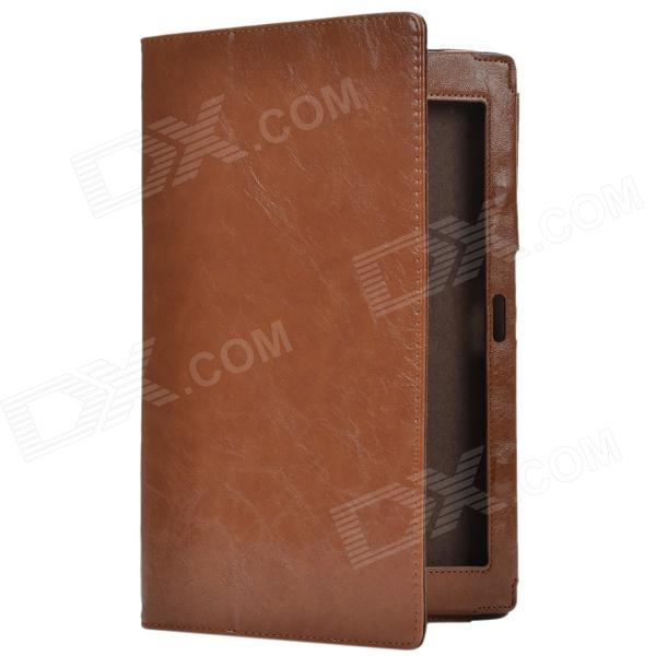 Crazy Horse Pattern 2-Folding Protective PU Leather Case Stand for Sony Xperia Tablet Z - Brown 9 inch tablets leather case crazy horse texture case with holder for onda v891w ramos i9s pro