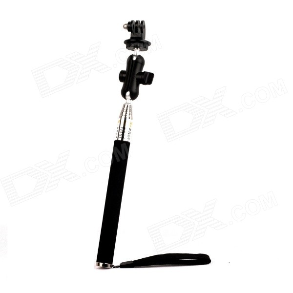 PANNOVO G-62 6 Section Retractable Handheld Pole Monopod for Gopro Hero 4/ 2/3/3+/SJ4000 - Black pannovo g 62 6 section retractable handheld pole monopod for gopro hero 4 2 3 3 sj4000 black