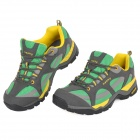 Hasky CY-9951 Outdoor Climbing Hiking Shockproof EVA Shoes - Grey + Green + Yellow (Size 41)