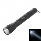 YIQUAN YQ-512F 100lm 6000K 1-LED White Light 1-Mode Flashlight - Black (2 x AA)