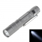 SMALL SUN ZY-719 30lm 6000K LED White Light 1-Modus Taschenlampe Pen Hung - Silver Grey (1 x AAA)