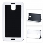 Protective PU Leather + Plastic Flip Open Case w/ Clear Touch Window for Samsung Note 3 - White