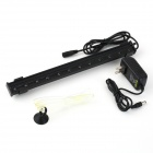 exLED 1.5W 12-LED  Blue + White Light Aquarium Light Bar - Black (31cm / AC 100~240V)