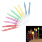 SYVIO Amazing Colored Flame Candles for Romantic Birthday Party - Multicolored (10 PCS)