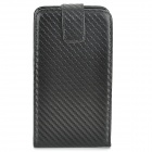 Protective Top Flip Open PU + Plastic Case for Samsung Galaxy Note 3 / N9000 + More - Black