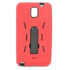 Detachable Protective TPU + Plastic Back Case w/ Stand for Samsung Note 3 - Red