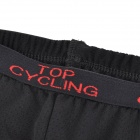TOP CYCLING Cycling Silicone Cushion Underpants for Men - Black (L)