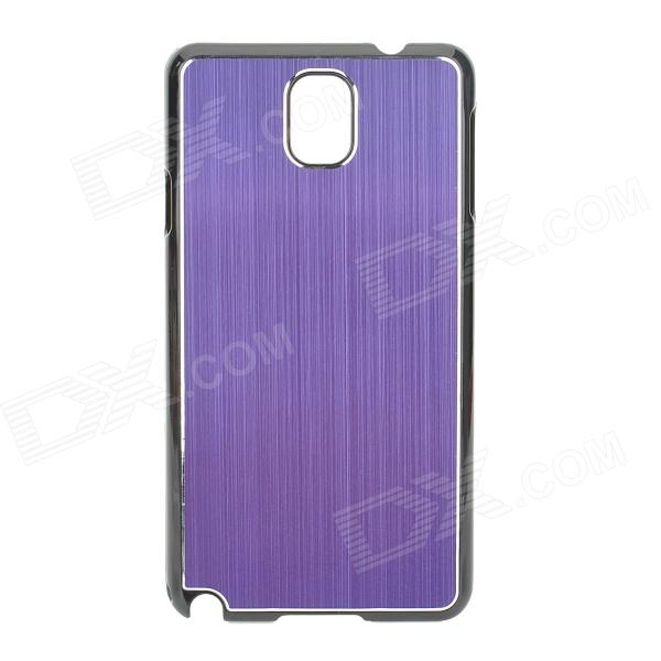 Protective Aluminum Alloy+ PC Back Case for Samsung Galaxy Note 3 / N9000 + More - Purple + Black protective aluminum alloy pc back case for samsung galaxy note 3 n9000 more purple black