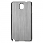 Protective PC + Brushed Aluminum Alloy Back Case for Samsung Galaxy Note 3 N9000 - Silver + Black