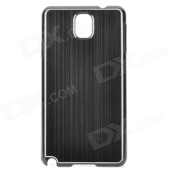 Fashionable Brushed Aluminum Alloy + PC Back Case for Samsung Galaxy Note 3 / N9000 / N9005 / N9002 protective aluminum alloy pc back case for samsung galaxy note 3 n9000 more purple black