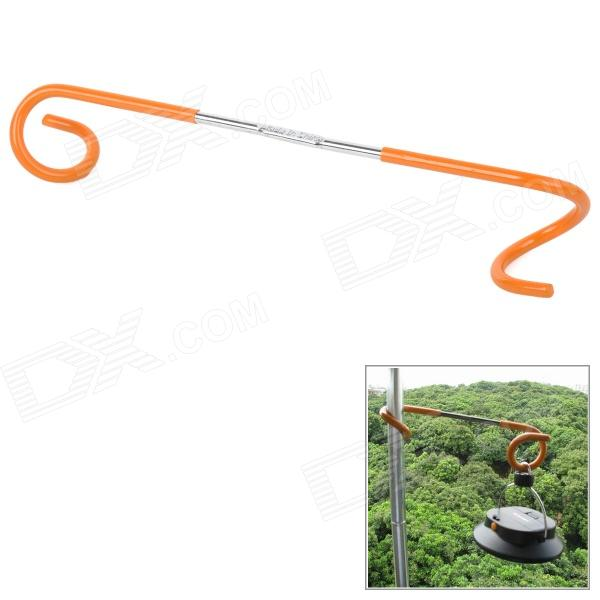 Multifunction Outdoor Camping Hanging Hook for Lantern / Clothes - Orange + Silver 021 multifunction s shape outdoor camping kitchen stainless steel hanging hooks silver 6 pcs