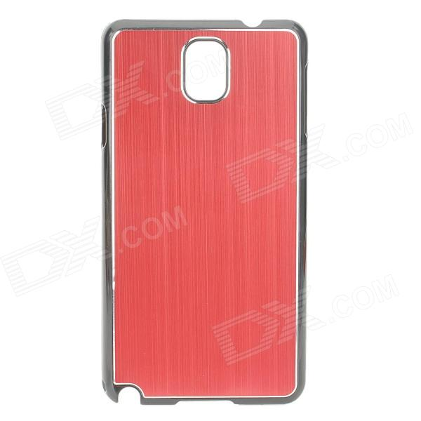 Protective Aluminum Alloy+ PC Back Case for Samsung Galaxy Note 3 / N9000 + More - Red + Black protective aluminum alloy pc back case for samsung galaxy note 3 n9000 more purple black