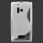 S Shape Protective TPU Back Case for Nokia 928 - Translucent White + Transparent