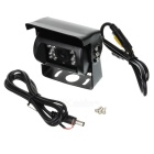 Waterproof CMOS Wide Angle Bus / Truck Rearview Camera w/ 18-LED - Black