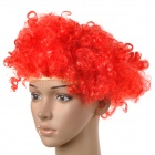 Halloween / Masquerade Party Makeup Short Curly Turkey Feather Wig - Red