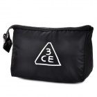 3ConceptEyes Large Capacity Cosmetic Storage Zipper Bag - Black