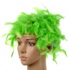 Halloween / Masquerade Party Makeup Short Curly Turkey Feather Wig - Green