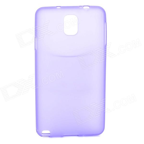 Protective TPU Back Case for Samsung Galaxy Note 3 / N9000 + More - Purple protective aluminum alloy pc back case for samsung galaxy note 3 n9000 more purple black